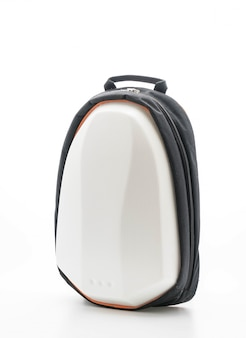 Beautiful backpack on white