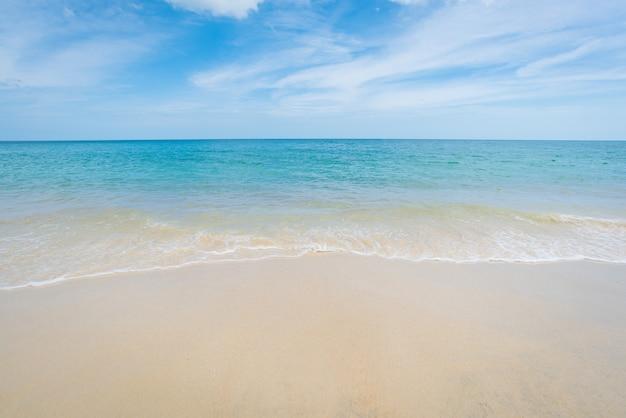 Beautiful beach and blue sky