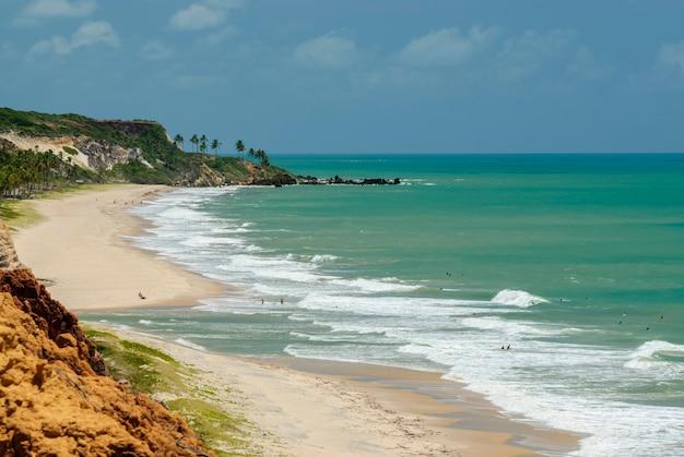 Красивый пляж конде возле жоао песоа параиба бразилия