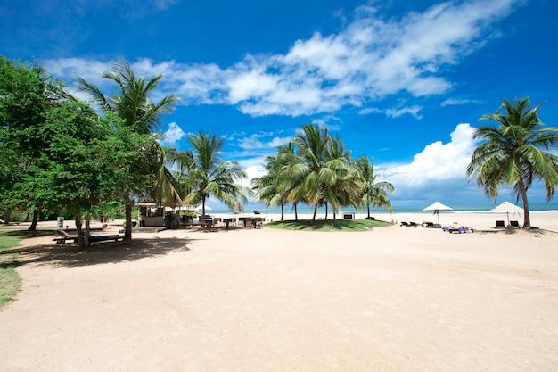 美しいビーチ。夏休みと休暇。観光と旅行