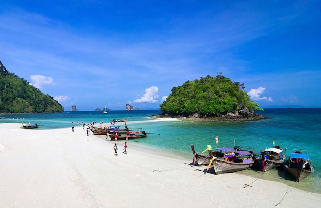 Beautiful beach and tropical sea, krabi, in thailand.