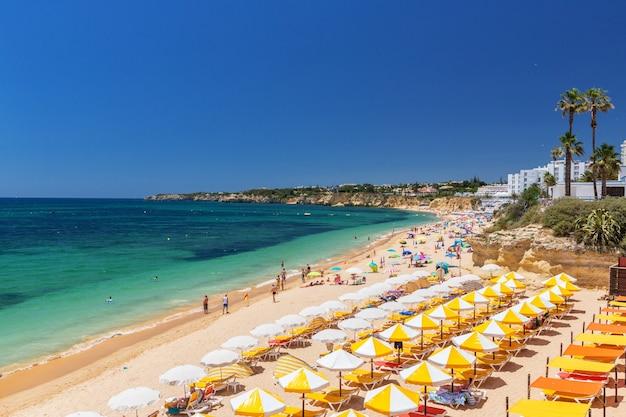 Beautiful beaches of the algarve coast of portugal, armacao de pera.