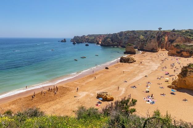 Beautiful beaches of the algarve coast of portugal, lagos.