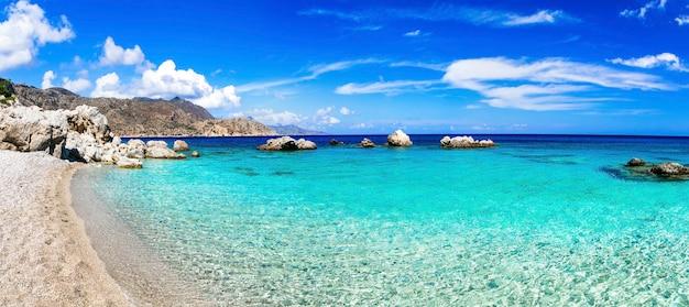 Прекрасные пляжи греческих островов - апелла на острове карпатос, додеканес