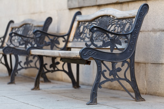 Beautiful bench with cast iron