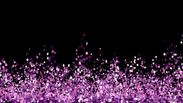 Красивый черный фон с фиолетовым блеском. 3d иллюстрации, 3d рендеринг.