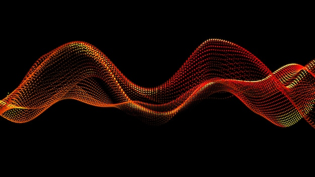 Красивый черный фон с красным блеском. 3d иллюстрация