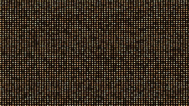 金色のキラキラと美しい黒の背景。 3dイラスト、3dレンダリング。