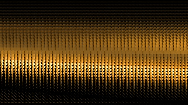Красивый черный фон с золотым блеском. 3d иллюстрация