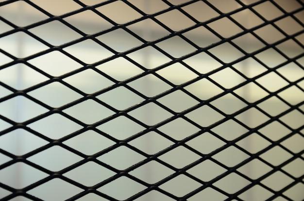 Красивый черный металлический забор фон