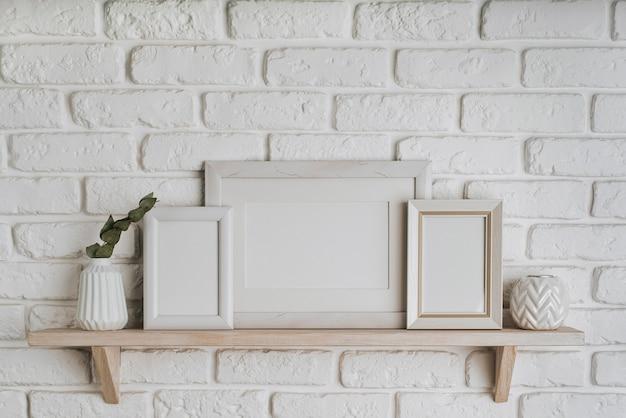美しい空白のフレームの概念