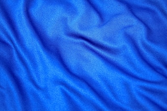 Beautiful blue fabric cloth with wrinkles