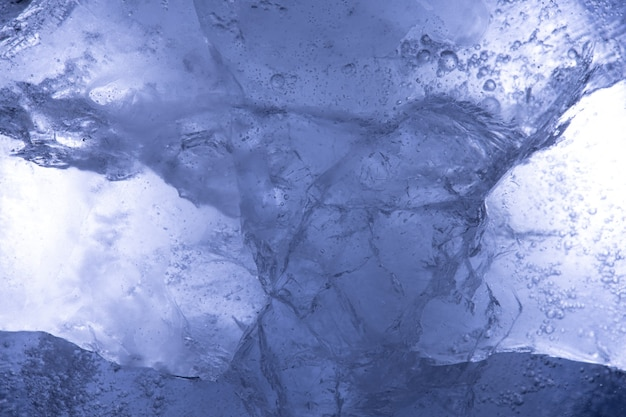 美しい青い氷。デザインの背景