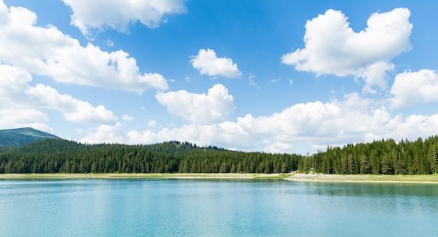 Beautiful blue lake in national park