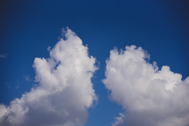 Beautiful blue sky with cloud background.