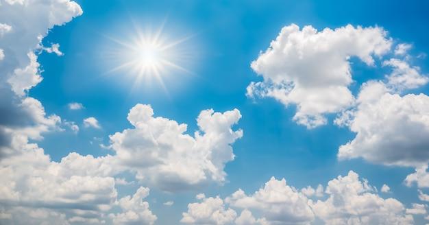 雲と太陽と美しい青い空