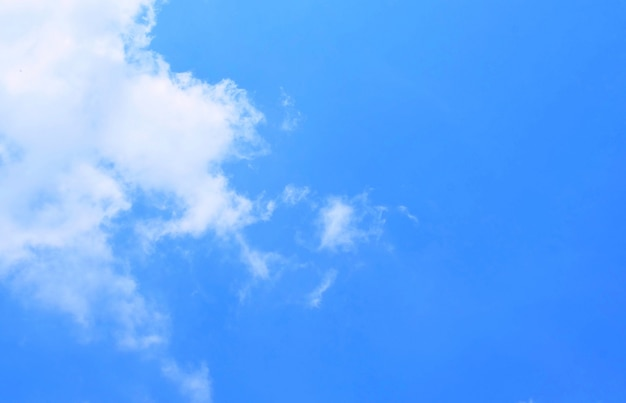 Beautiful blue sky with small white clouds