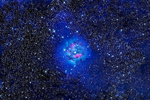 Красивое голубое пространство. элементы этого изображения были предоставлены наса. фото высокого качества