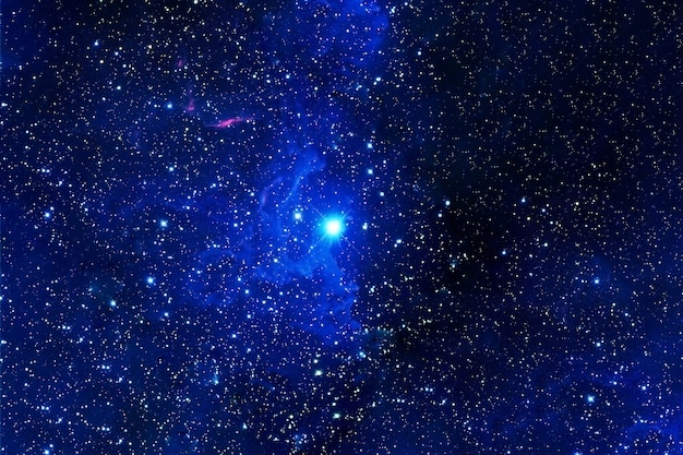 Beautiful blue space. elements of this image were furnished by nasa. high quality photo