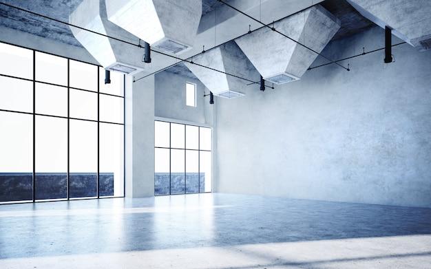 태양 빛이 통과하는 아름다운 청백색과 밝은 방