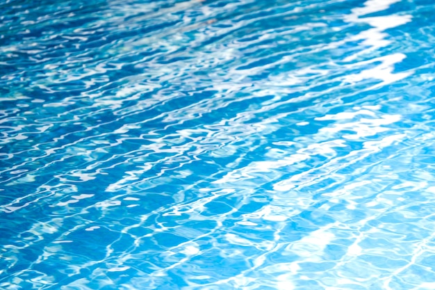 Beautiful blue and white of pool water for abstract background and texture.