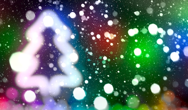 The beautiful blurred christmas background