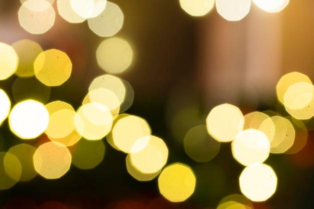 Belle luci rotonde sfocate