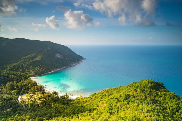 판간 섬 태국에 아름 다운 병 해변