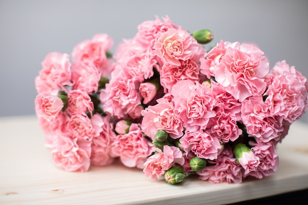 Beautiful bouquet of beautiful flowers. the work of the florist. flower delivery.