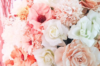 Beautiful bouquet flower for background
