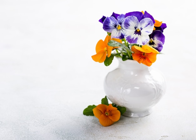 Beautiful bouquet of pansy flower