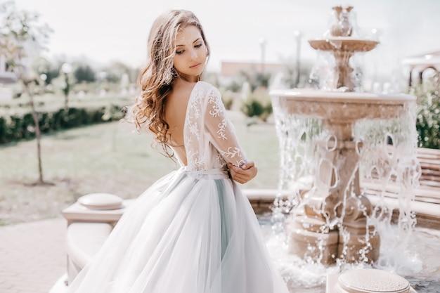 Beautiful bride in a fashion dress