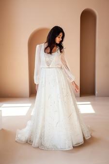 Beautiful bride in a wedding dress