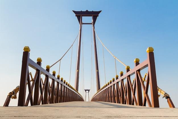 Beautiful bridge against blue sky background