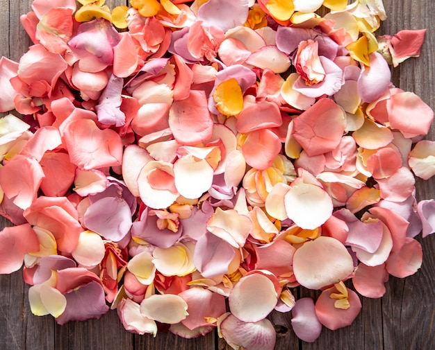 Beautiful bright background of fresh rose petals. flower background.