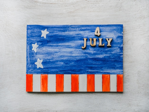 Beautiful, bright card for independence day