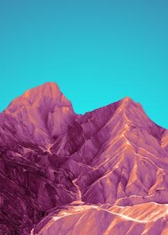 美しい明るいポップな風景