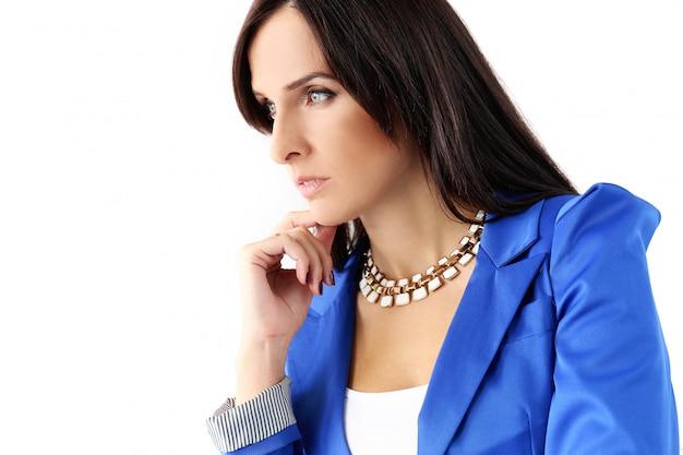 Beautiful brunette in jacket