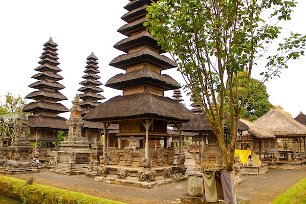The beautiful buildings of the royal family temple in bali. indonesia