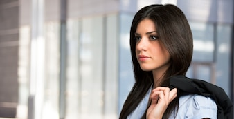 Beautiful business woman portrait outdoor