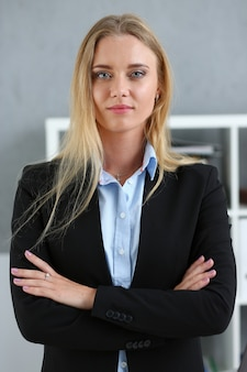 Beautiful businesswoman at workplace