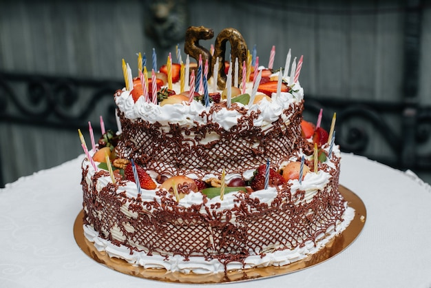 Красивый торт на юбилей