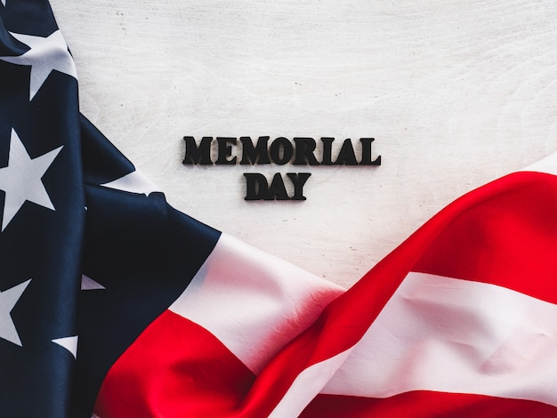 Beautiful card for the memorial day. close-up