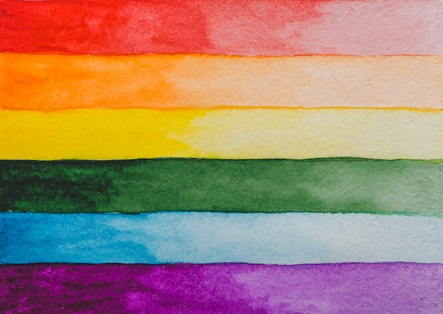 Красивая открытка с рисунком радужного флага