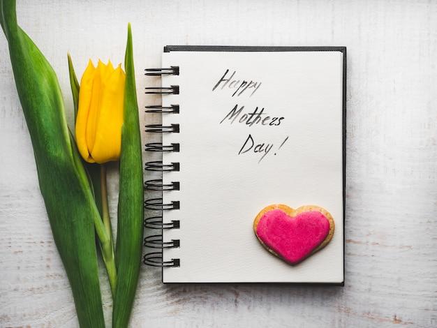 Красивая открытка с надписью для любимой мамы