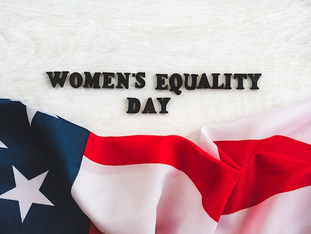 Beautiful card for women's equality day. close-up