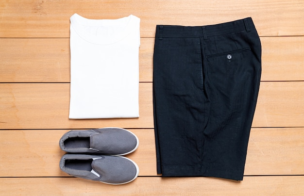 Beautiful casual men fashion and clothes set