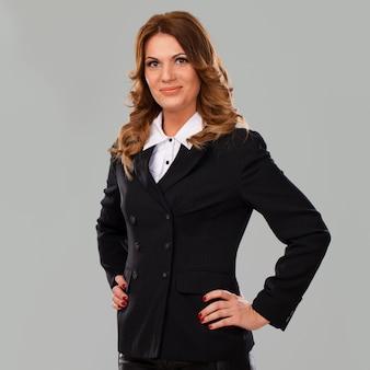 Beautiful caucasian businesswoman in suit