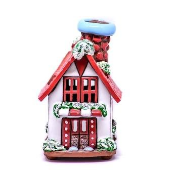 家の形をした美しいセラミック装飾クリスマス燭台
