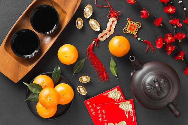 Bello concetto cinese del nuovo anno